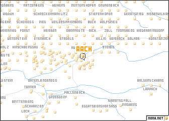 map of Aach