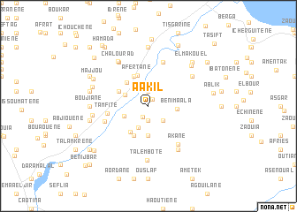 map of Aakil