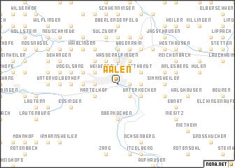 map of Aalen