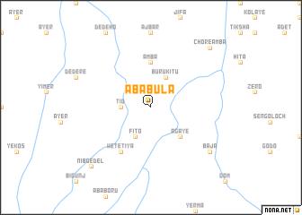 map of Āba Bula