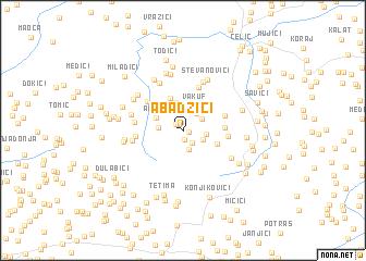 map of Abadžići