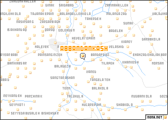 map of Āb Bandān Kash