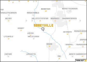 map of Abbeyville
