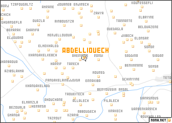map of Abd el Liouech