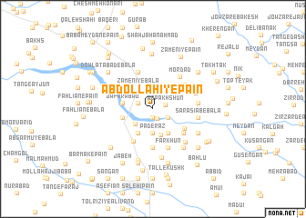 map of 'Abdollāhī-ye Pā\