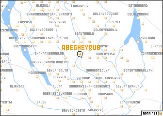 map of Āb-e Gheyrūb
