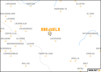 map of Abejuela