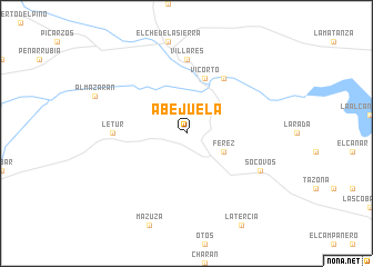 map of Abejuela