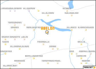 map of Abelón