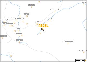 map of Āb Gel
