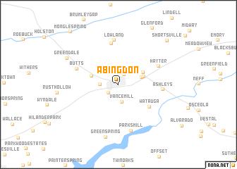 Abingdon Virginia Map.Abingdon United States Usa Map Nona Net