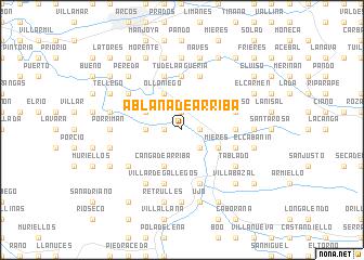 Ablaña de Arriba (Spain) map - nona net