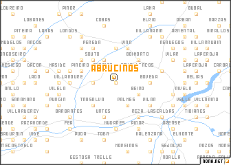 map of Abruciños
