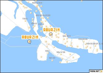 map of Abū 'Aẕīm