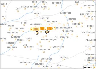 map of Abū Bakr