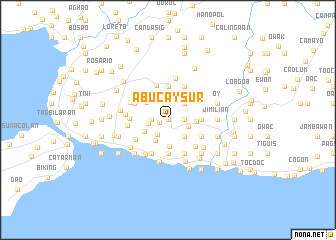 map of Abucay Sur