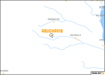 map of Abū Gharīb