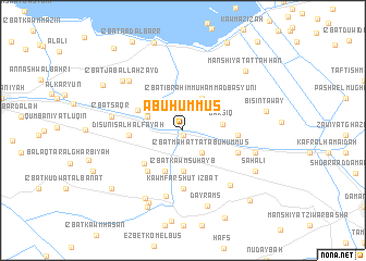 map of Abu Ḥummuṣ