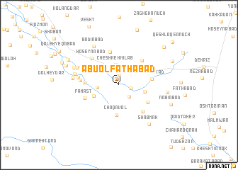 map of Abū ol Fatḩābād