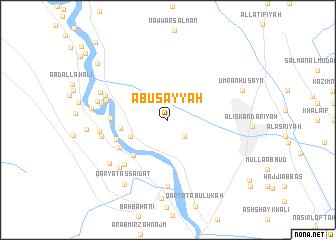map of Abū Şayyāḩ