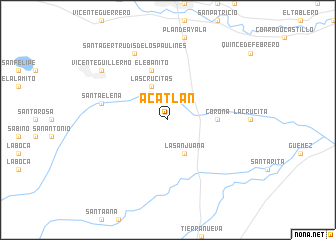 map of Acatlán