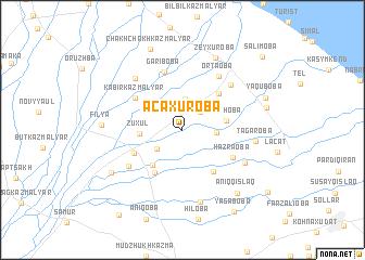 map of Əcǝxuroba