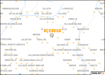 map of Acebedo