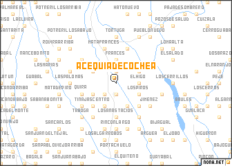 map of Acequia de Cochea
