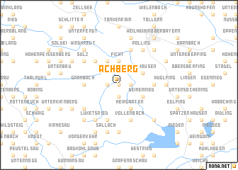map of Achberg