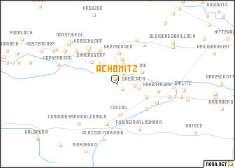 map of Achomitz