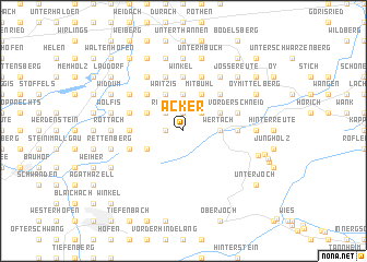 map of Acker