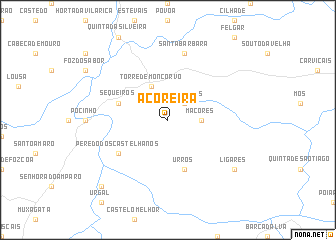 map of Açoreira