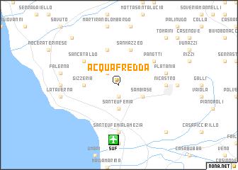map of Acquafredda