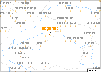 map of Acquaro