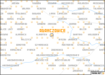 map of Adamczowice