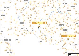 map of Adamovići