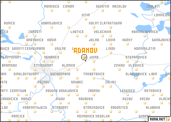 map of Adamov