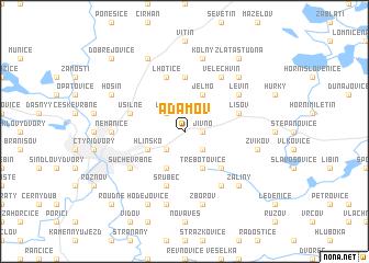 map of Adamov