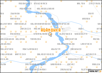 map of Adamówka