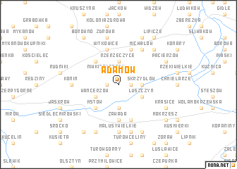 map of Adamów