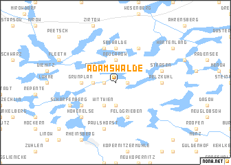 map of Adamswalde