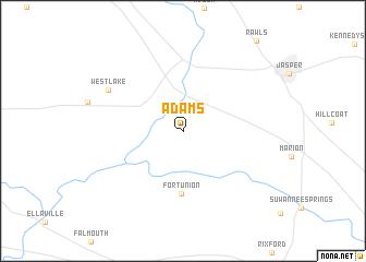 map of Adams