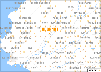 map of Ad Dāmāt