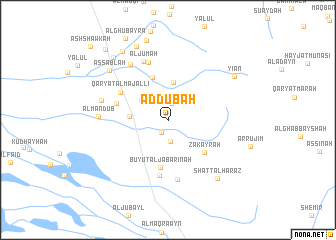 map of Aḑ Ḑubah