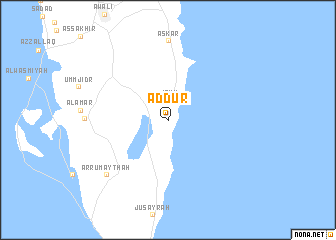 map of Ad Dūr