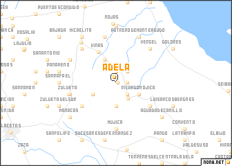 map of Adela