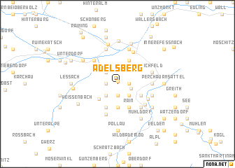 map of Adelsberg