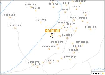 map of Ādī Fini'i