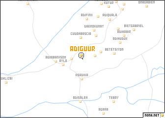 map of Ādī Gu'ur