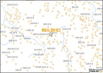 map of (( Adilovići ))